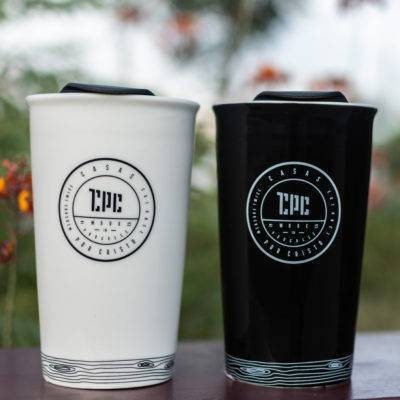 Black & White Ceramic Coffee Tumblers