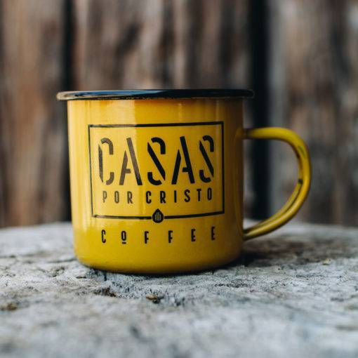 Casas Por Cristo Tin Coffee Mug Front