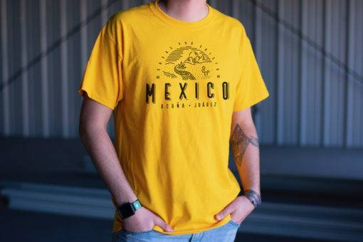 Gold Acuna Mexico Location Shirt