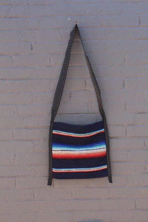 Authentic Blue Falsa Crossbody Mexican Bag