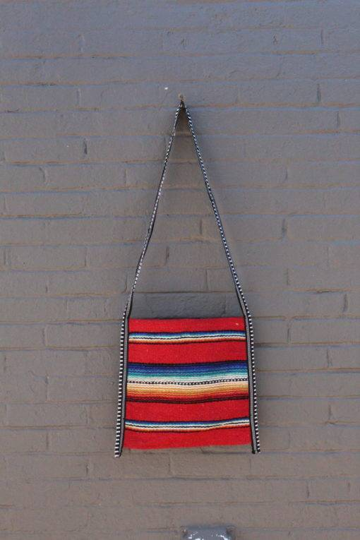 Authentic Red Falsa Crossbody Mexican Bag