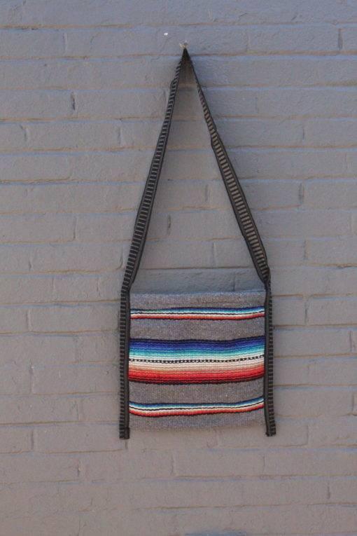 Authentic Gray Falsa Crossbody Mexican Bag