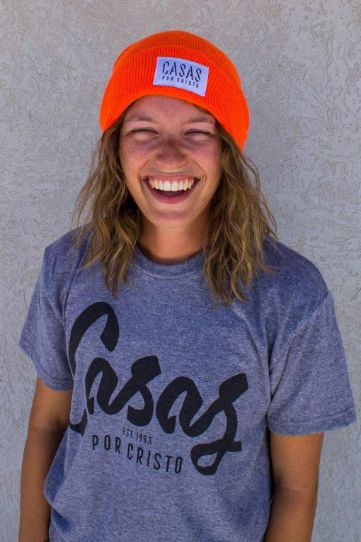 Orange Casas Beanie
