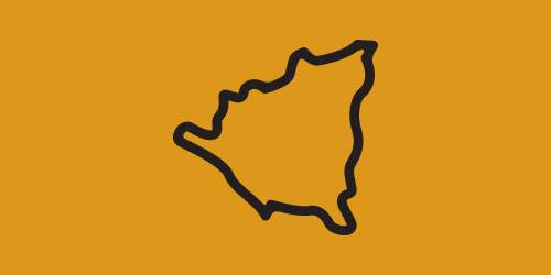 Nicaragua Map Outline
