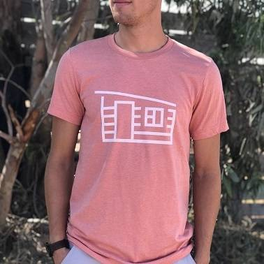 pink tee front